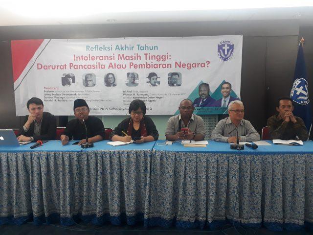 Diskusi Refleksi Akhir Tahun GAMKI: Intoleransi masih Tinggi Indonesia Darurat Pancasila?