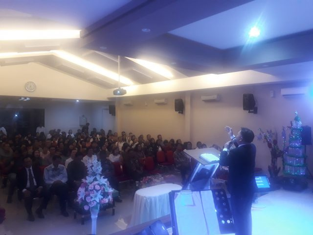 Pdt. Edy Wagino Sampaikan Dua Pesan Moral di Natal GBI Sinona Bojongsari