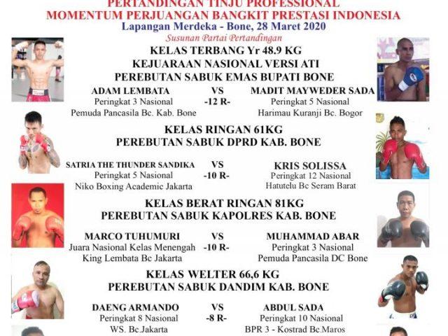 Kota Bone Sulawesi Selatan meriahkan Tinju Profesional