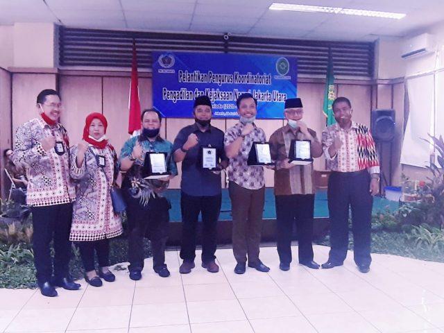 Wilmar Pasaribu Resmi Pimpin PWI Koordinatoriat Unit PN dan Kejari Utara periode 2020-2023