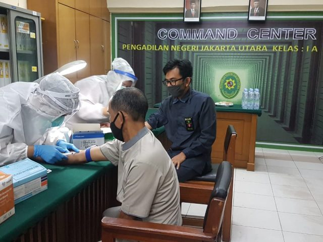 Demi kenyamanan Dari Covid 19, PN Jakarta Utara Kembali Lakukan Test Rapid